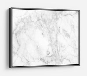 White gray marble patterned HD Metal Print - Canvas Art Rocks - 9