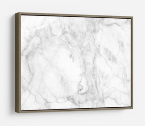 White gray marble patterned HD Metal Print - Canvas Art Rocks - 10
