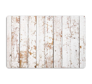 White grunge wooden HD Metal Print - Canvas Art Rocks - 1