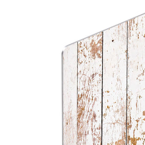 White grunge wooden HD Metal Print - Canvas Art Rocks - 4