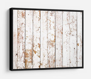 White grunge wooden HD Metal Print - Canvas Art Rocks - 6