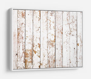 White grunge wooden HD Metal Print - Canvas Art Rocks - 7