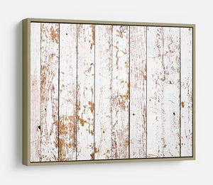 White grunge wooden HD Metal Print - Canvas Art Rocks - 8