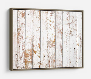 White grunge wooden HD Metal Print - Canvas Art Rocks - 10