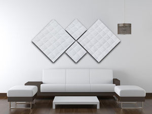 White mattress bedding 4 Square Multi Panel Canvas  - Canvas Art Rocks - 3