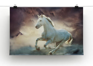 White running horse Canvas Print or Poster - Canvas Art Rocks - 2