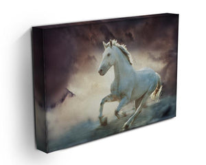 White running horse Canvas Print or Poster - Canvas Art Rocks - 3