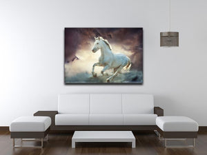 White running horse Canvas Print or Poster - Canvas Art Rocks - 4