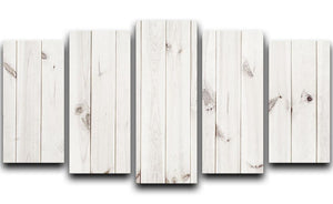 White wood texture background 5 Split Panel Canvas - Canvas Art Rocks - 1