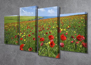 Wild Flower Meadow 4 Split Panel Canvas - Canvas Art Rocks - 2