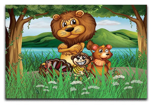 Wild animals in the jungle Canvas Print or Poster - Canvas Art Rocks - 1