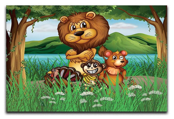 Wild animals in the jungle Canvas Print or Poster