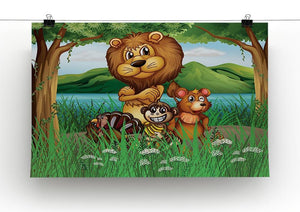 Wild animals in the jungle Canvas Print or Poster - Canvas Art Rocks - 2