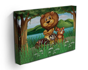 Wild animals in the jungle Canvas Print or Poster - Canvas Art Rocks - 3