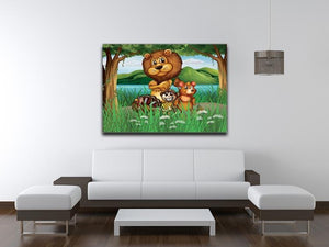 Wild animals in the jungle Canvas Print or Poster - Canvas Art Rocks - 4