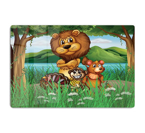 Wild animals in the jungle HD Metal Print