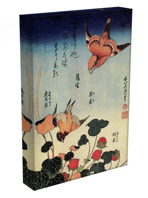 Wild strawberries and birds by Hokusai Canvas Print or Poster - Canvas Art Rocks - 3