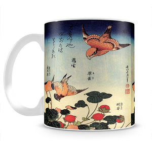 Wild strawberries and birds by Hokusai Mug - Canvas Art Rocks - 2