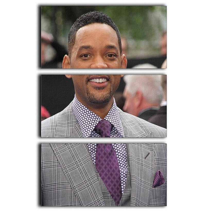 Will Smith In Suit 3 Split Panel Canvas Print - Canvas Art Rocks - 1