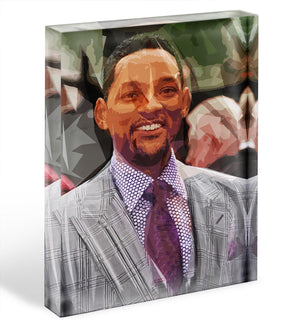 Will Smith Pop Art Acrylic Block - Canvas Art Rocks - 1