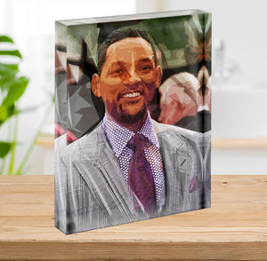 Will Smith Pop Art Acrylic Block - Canvas Art Rocks - 2