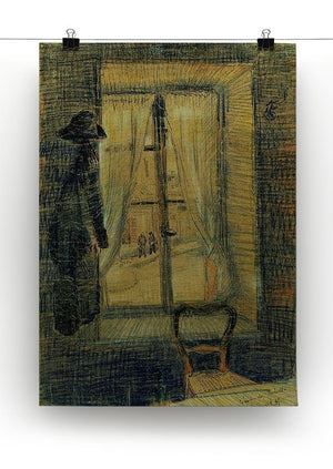 Window in the Bataille Restaurant by Van Gogh Canvas Print & Poster - Canvas Art Rocks - 2