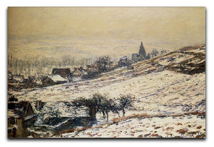 Winter At Giverny 1885 by Monet Canvas Print or Poster