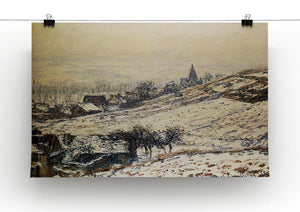 Winter At Giverny 1885 by Monet Canvas Print & Poster - Canvas Art Rocks - 2