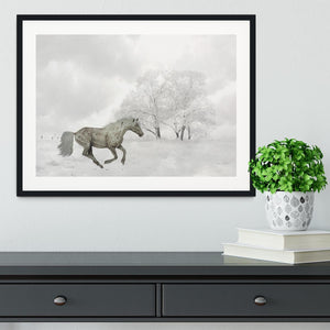 Winter Horse Framed Print - Canvas Art Rocks - 1