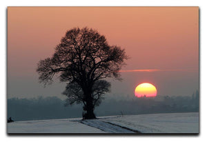Winter Sunset Canvas Print or Poster - Canvas Art Rocks - 1
