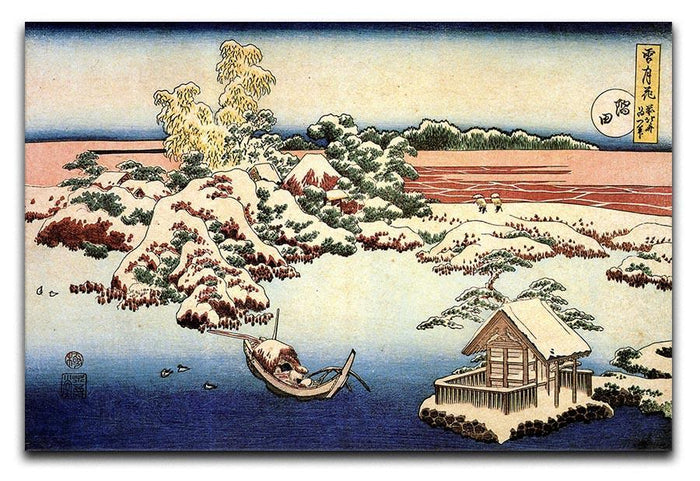 Winter landscape of Suda by Hokusai Canvas Print or Poster