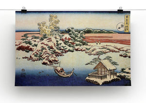 Winter landscape of Suda by Hokusai Canvas Print or Poster - Canvas Art Rocks - 2