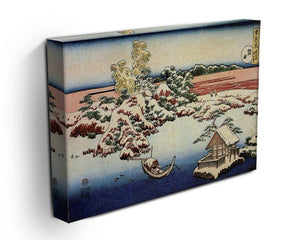 Winter landscape of Suda by Hokusai Canvas Print or Poster - Canvas Art Rocks - 3