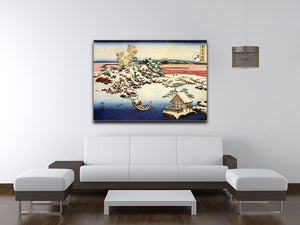 Winter landscape of Suda by Hokusai Canvas Print or Poster - Canvas Art Rocks - 4
