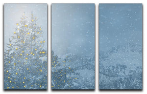 Winters Night 3 Split Panel Canvas Print - Canvas Art Rocks - 1