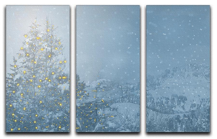 Winters Night 3 Split Panel Canvas Print