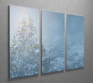 Winters Night 3 Split Panel Canvas Print - Canvas Art Rocks - 2