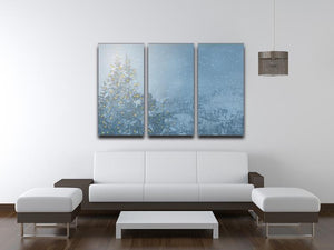 Winters Night 3 Split Panel Canvas Print - Canvas Art Rocks - 3