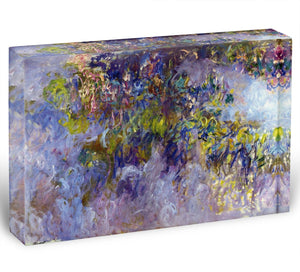 Wisteria 1 by Monet Acrylic Block - Canvas Art Rocks - 1