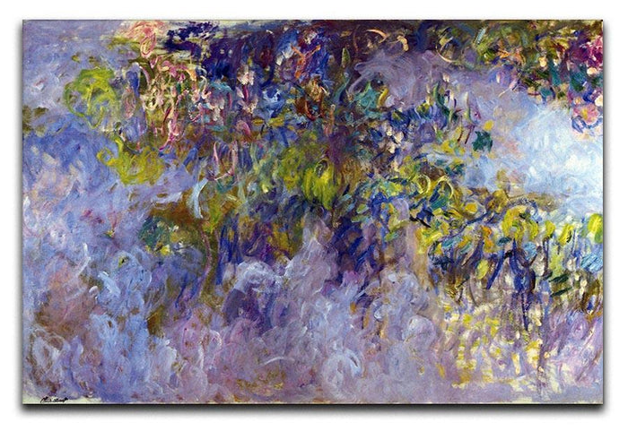 Wisteria 1 by Monet Canvas Print or Poster
