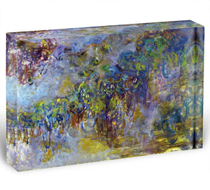 Wisteria 2 by Monet Acrylic Block - Canvas Art Rocks - 1