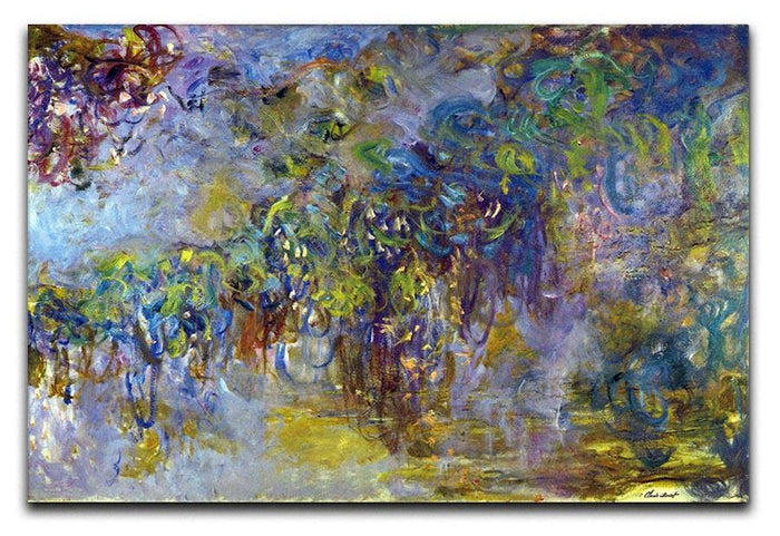 Wisteria 2 by Monet Canvas Print or Poster