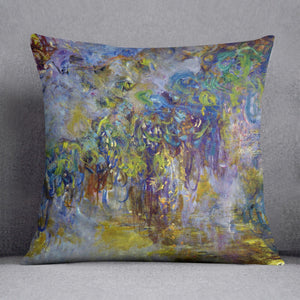 Wisteria 2 by Monet Throw Pillow