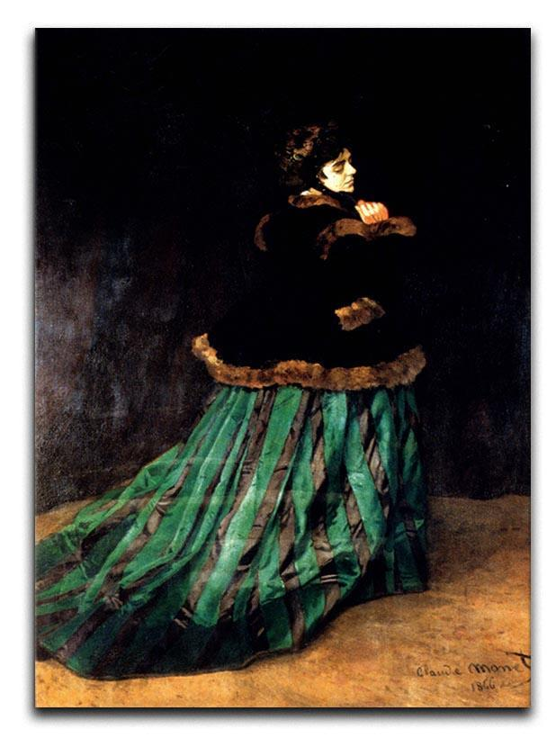 Woman In A Green Dress by Monet Canvas Print & Poster  - Canvas Art Rocks - 1