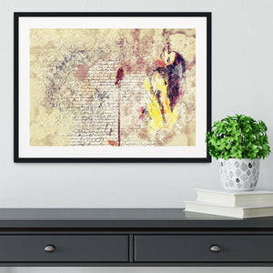 Woman Painting Framed Print - Canvas Art Rocks - 1