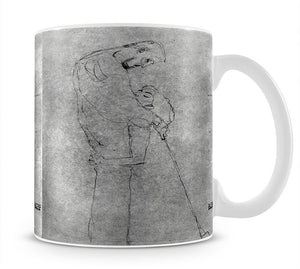 Woman and man standing in profile by Klimt Mug - Canvas Art Rocks - 1