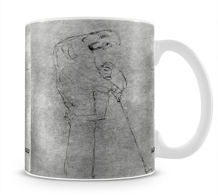 Woman and man standing in profile by Klimt Mug