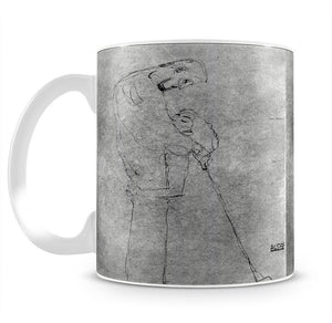 Woman and man standing in profile by Klimt Mug - Canvas Art Rocks - 2