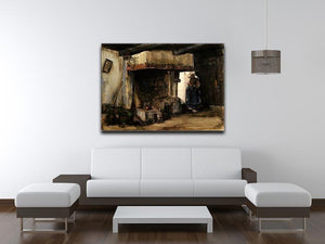 Woman by a Hearth by Van Gogh Canvas Print & Poster - Canvas Art Rocks - 4