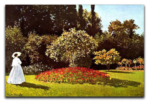 Woman in the garden by Monet Canvas Print & Poster  - Canvas Art Rocks - 1